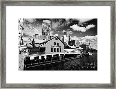 Boston Tea Party Museum Usa Framed Print