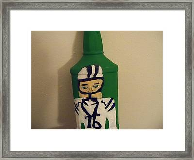 Bottleart Framed Print by Rhonda Jackson