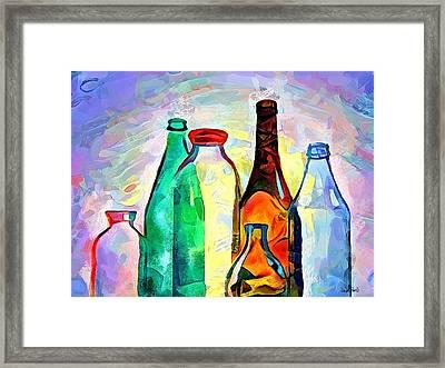 Bottled Up Framed Print by Wayne Pascall