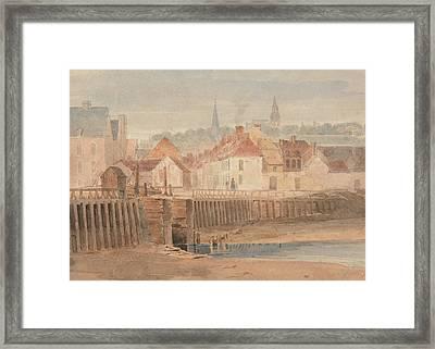 Boulogne Harbor Framed Print by Richard Parkes Bonington