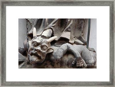 Bounded Devil Framed Print by Michal Boubin