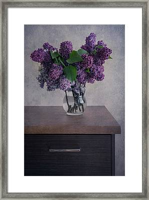 Framed Print featuring the photograph Bouquet Of Fresh Lilacs by Jaroslaw Blaminsky