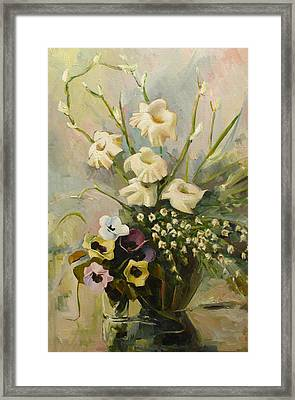 Framed Print featuring the painting Bouquet by Tigran Ghulyan