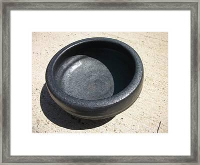 Bowl On Wheel A Framed Print by Leahblair Jackson