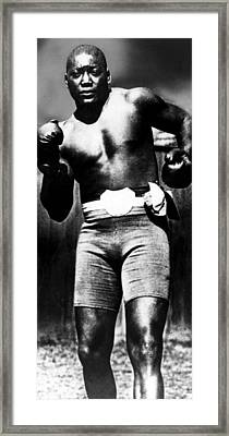 Boxer Jack Johnson, Ca. 1910s Framed Print