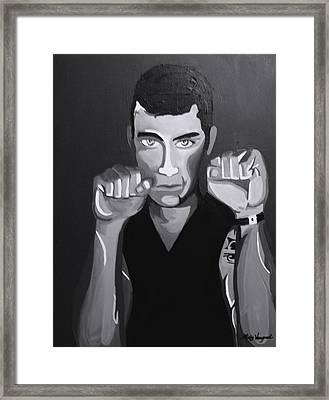 Boxer Monotone Framed Print by Misty VanPool