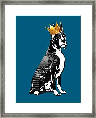 Boxer With Crown Collection Framed Print