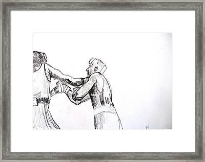 Boxing Framed Print by Luxmi Benjamin