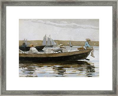 Boys In A Dory, 1873  Framed Print by Winslow Homer