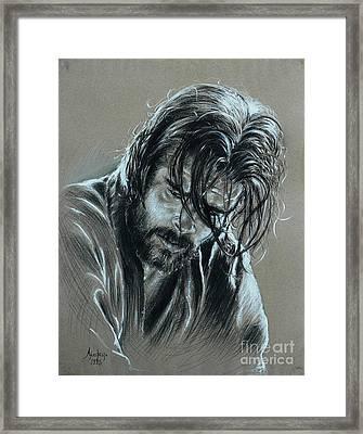 Brad Pitt Framed Print by Anastasis  Anastasi