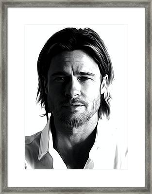 Brad Pitt Art Framed Print by Best Actors