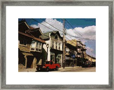 Brady Street Scene Framed Print