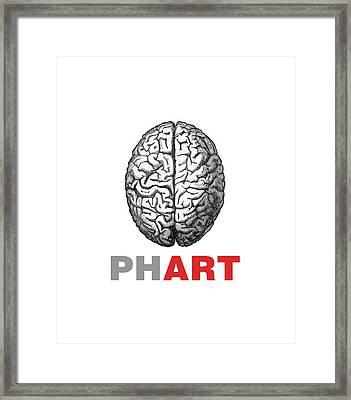 Brain Phart Framed Print by Craig McCausland