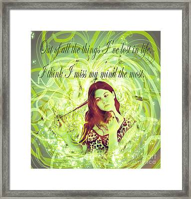 Brainless Teen Bimbo Framed Print by Humorous Quotes