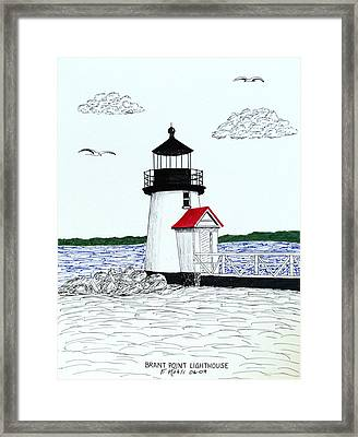 Brant Point Lighthouse Framed Print by Frederic Kohli