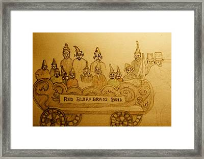 Brass Band Framed Print by Lee M Plate