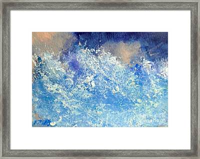 Breakers Framed Print