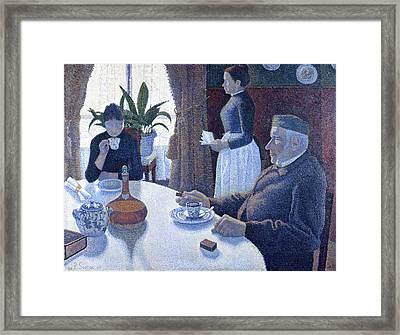 Breakfast Framed Print by Paul Signac