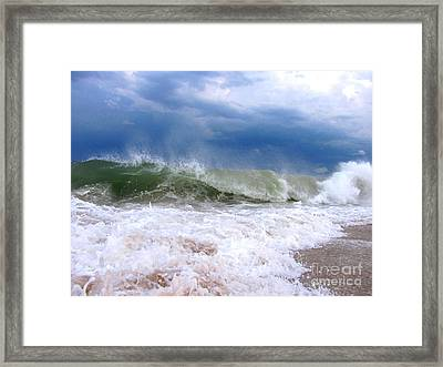 Breaking Framed Print