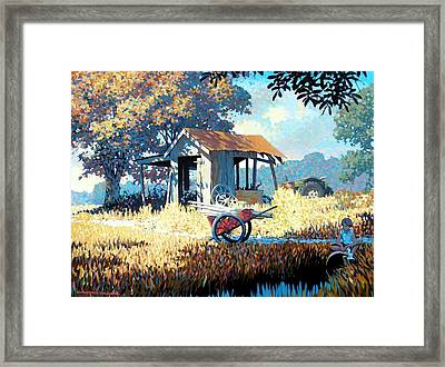 Breaktime Framed Print
