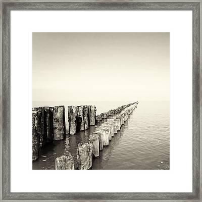 Breakwaters Framed Print by Wim Lanclus