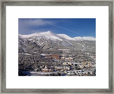 Breckenridge Powder Day Framed Print by Michael J Bauer