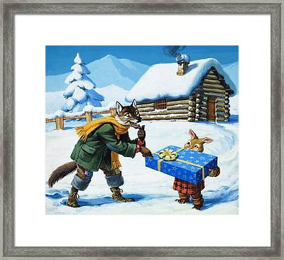 Brer Rabbit  Framed Print by Virginio Livraghi
