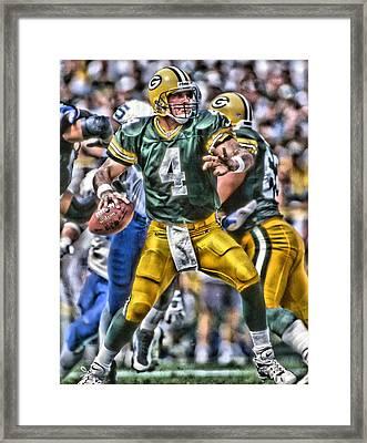 Brett Favre Green Bay Packers Framed Print