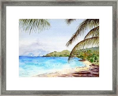 Brewers Bay Beach Framed Print