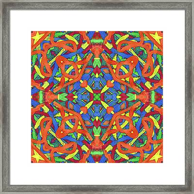 Brexit Soup -pattern- Framed Print by Coded Images