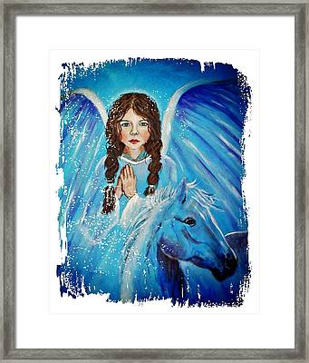 Brianna Little Angel Of Strength And Courage Framed Print by The Art With A Heart By Charlotte Phillips
