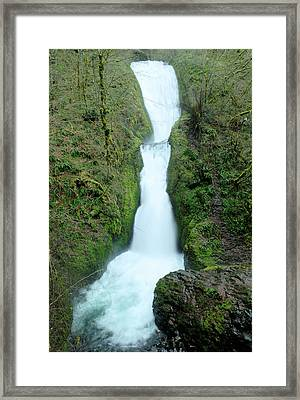 Framed Print featuring the photograph Bridal Veil Falls by Jeff Swan