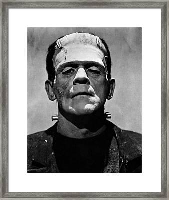 Bride Of Frankenstein, Boris Karloff Framed Print by Everett