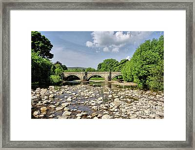 Bridge At Grinton Framed Print