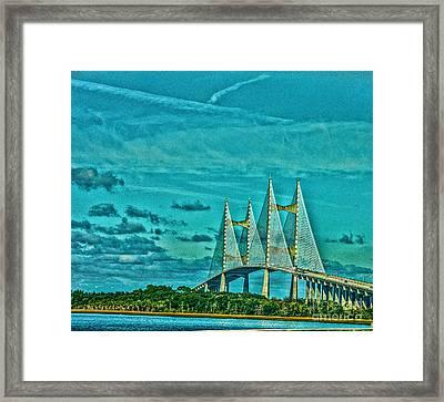 Bridge Of Beauty  Framed Print by Kathy Liebrum Bailey