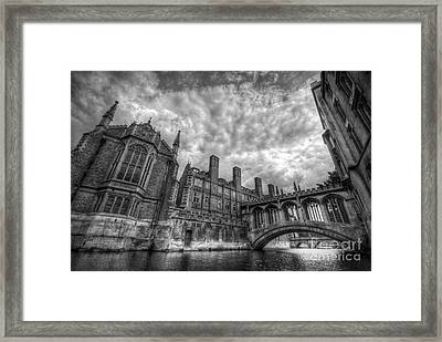 Bridge Of Sighs - Cambridge Framed Print
