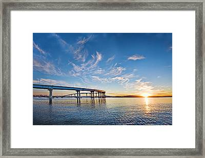 Bridge Sunrise Framed Print