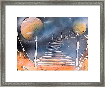 Bridge To Space Framed Print by My Imagination Gallery
