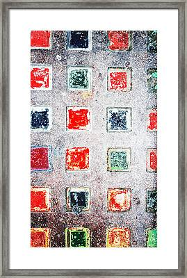 Bright Grunge Abstract Framed Print