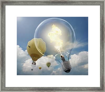 Bright Idea Framed Print by Andrew Kow