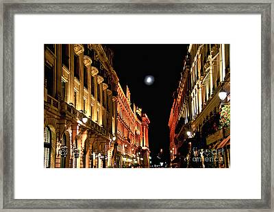 Bright Moon In Paris Framed Print by Elena Elisseeva