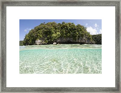 Bright Sunlight Dances Across A Shallow Framed Print