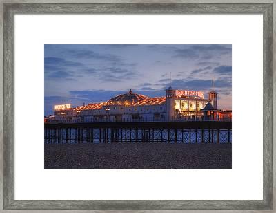 Brighton At Night Framed Print by Joana Kruse