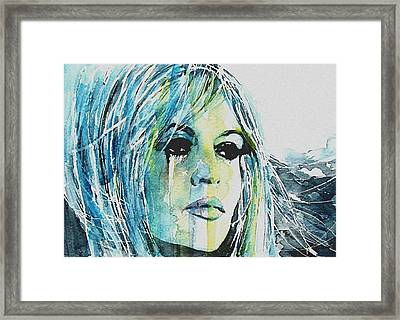 Brigitte Bardot Framed Print by Paul Lovering