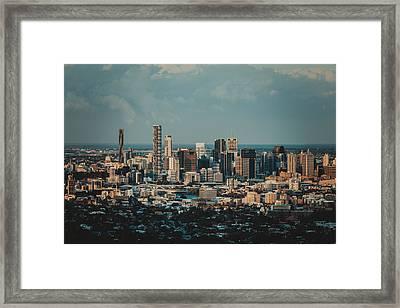 Brisbane Cityscape From Mount Cootha #5 Framed Print by Stanislav Kaplunov