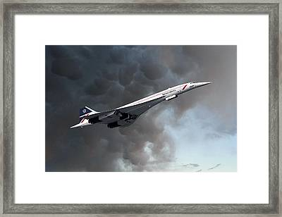 British Airways Concorde Framed Print