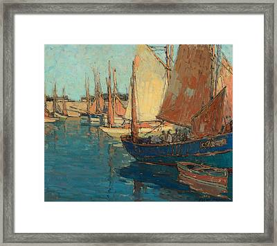 Brittany Boats Framed Print by Celestial Images