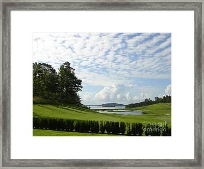 Bro Hof Slott Golf Club Sweden Framed Print by Jan Daniels
