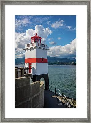 Brockton Point Lighthouse Framed Print by Inge Johnsson