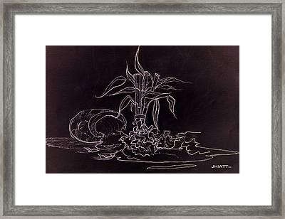 Broken Pot Bamboo Framed Print